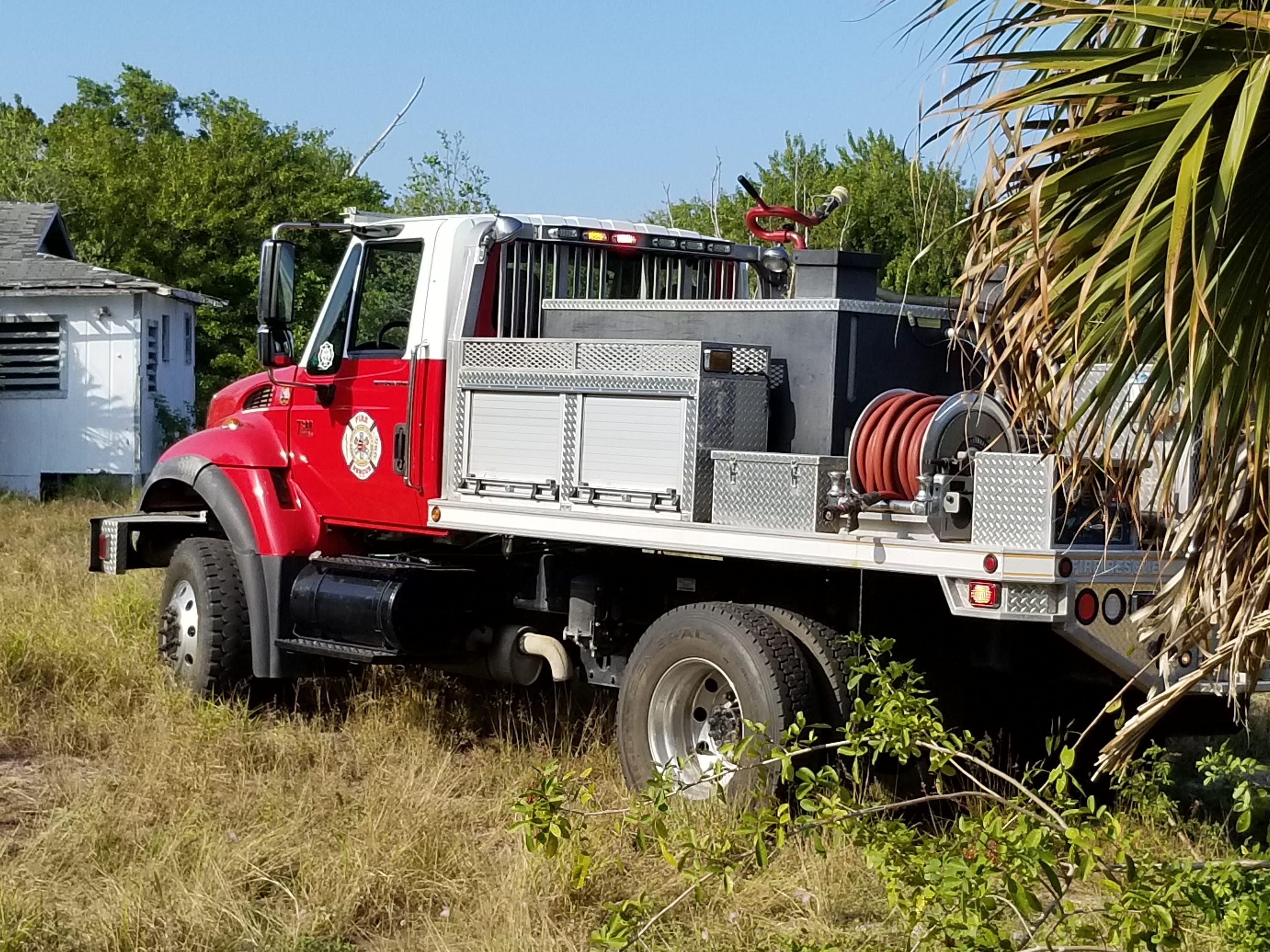 Indian River County Fire Rescue crews responded to a boat that exploded Friday afternoon, March 15, 2019, behind a house on Manly Avenue in Sebastian.