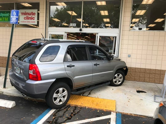 A motorist lost control of his car in March and struck the front of a CVS in Port St. Lucie.
