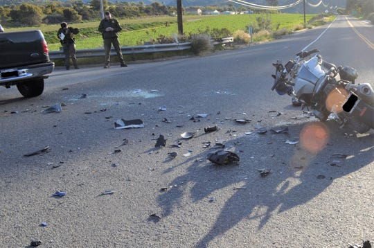 This was the scene of a fatal motorcycle crash that killed a 43-year-old Ojai man Friday morning in Carpinteria.