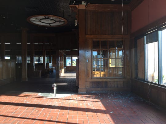 Closed since March 2018, the former TGI Fridays restaurant building at Shopping at the Rose in Oxnard has been the site of broken windows and other vandalism. The shopping center's developer is proposing demolishing the building to make way for a new project that would include Chase Bank and Raising Cane's, a Louisiana-based restaurant chain.