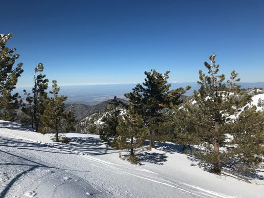 This was the view from Mount Pinos when a deputy rescued a lost skier.