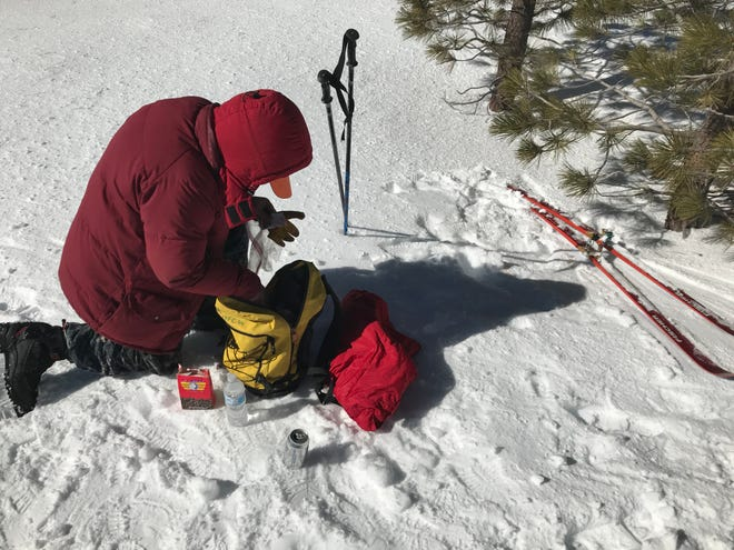 Ventura County deputies rescued a skier Wednesday who said he got lost while cross-country skiing on Mount Pinos in Los Padres National Forest.