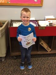 Christopher Vanneman, 3, of Quinton, recently celebrated reading 100 books as part of Cumberland County Library's 1000 Books Before Kindergarten Program. For library information, call (856) 453-2210 or visit www.cclnj.org.