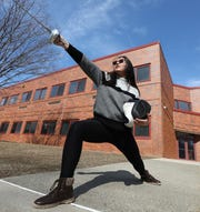 Lucy Jiao is a fencer for Nyack High School March 14, 2019.