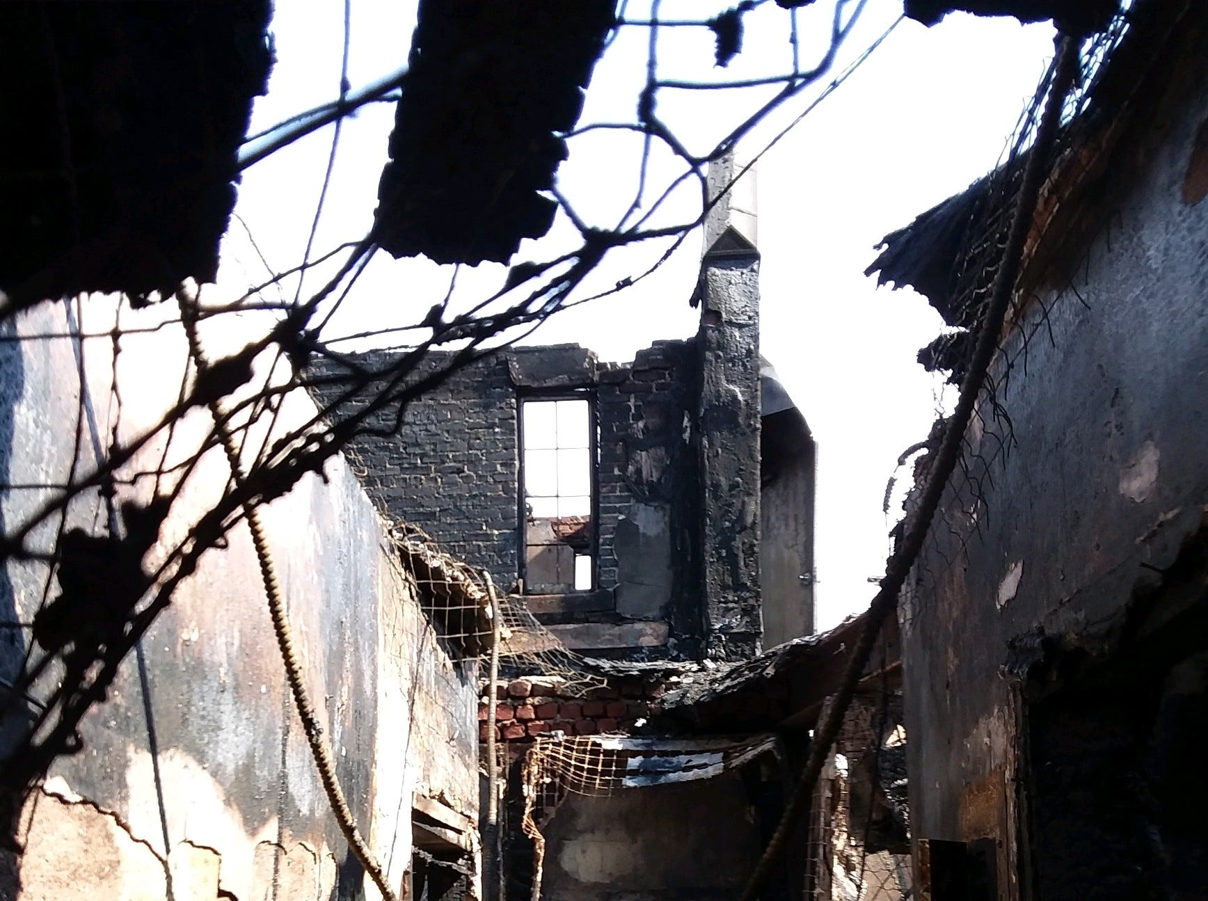 Inside the 15 Parkview Ave. fire in Yonkers.