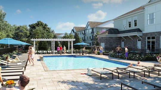 A conceptual rendering of the Woodmont Hills apartment in Ramapo, just south of Sloatsburg border.