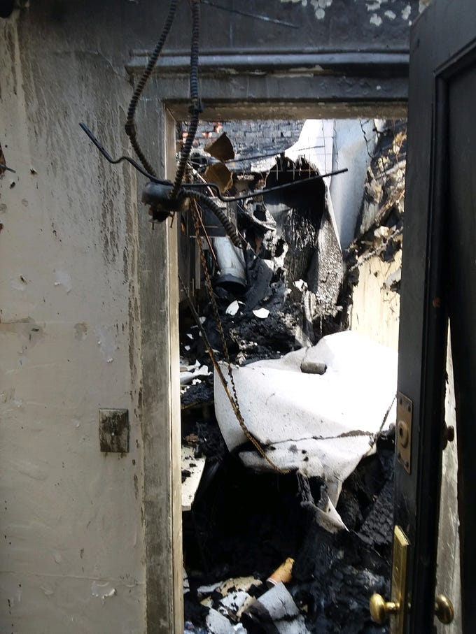 This is the aftermath of the March 12, 2019, fire at 15 Parkview Ave. in Yonkers.