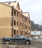 Construction on an apartment building at Woodmont Hills at Ramapo in Sloatsburg on Friday, March 15, 2019.