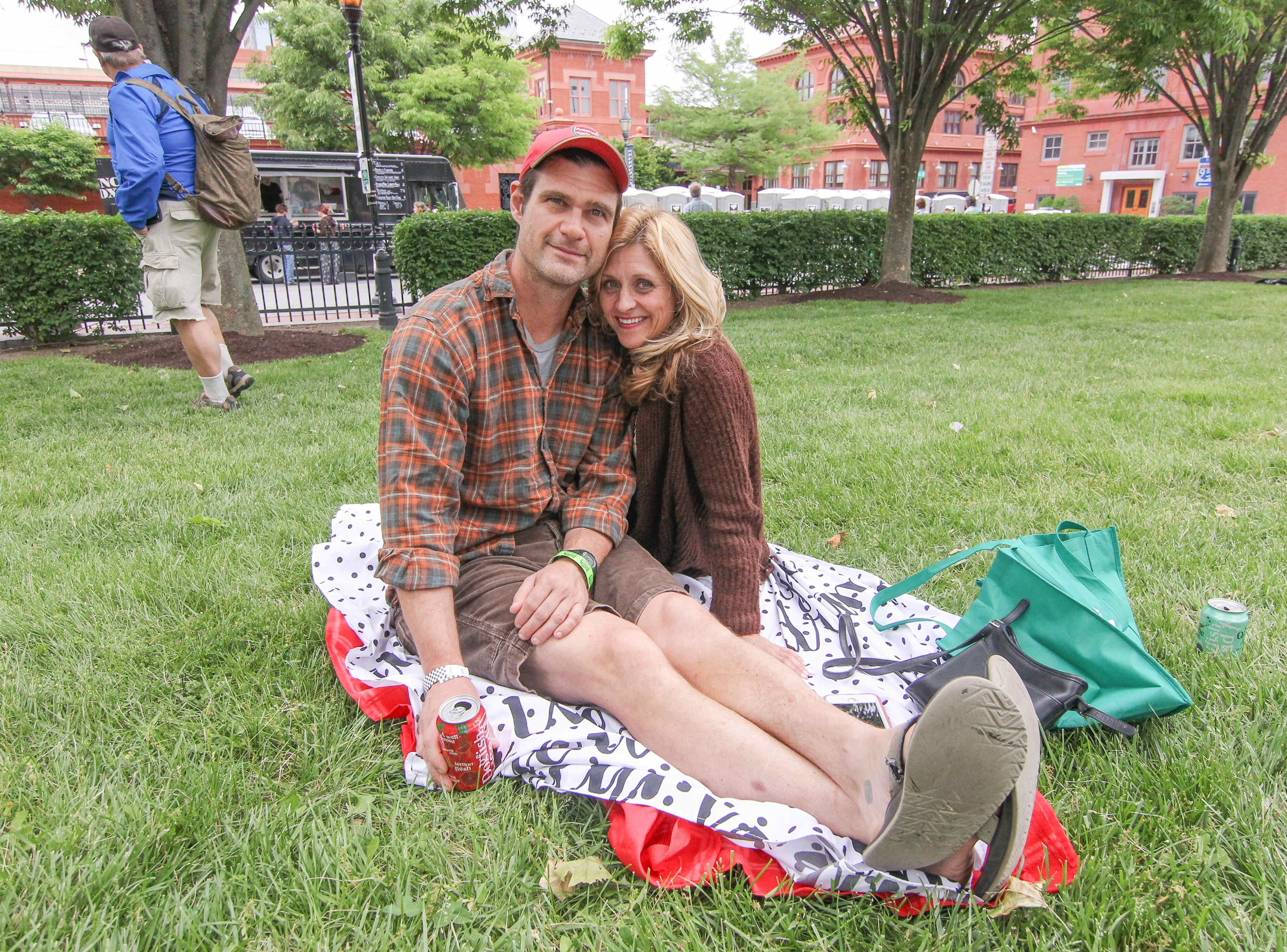 Andy Flanigan (left) and Erin Sheridan of Philadelphia enjoy the day at the Bromberg's Big Noise in 2017.
