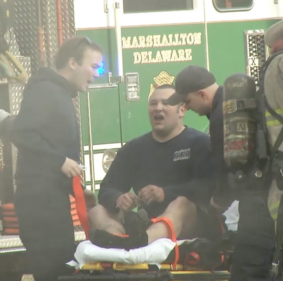 Delaware firefighter improving after critical injury sends him to burn center