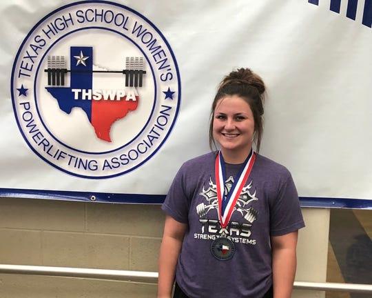Bowie's Carrington Davis won a silver medal at Friday's THSWPA State Meet in Waco.