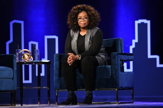 Oprah Winfrey onstage during Oprah's SuperSoul Conversations in February in New York City.