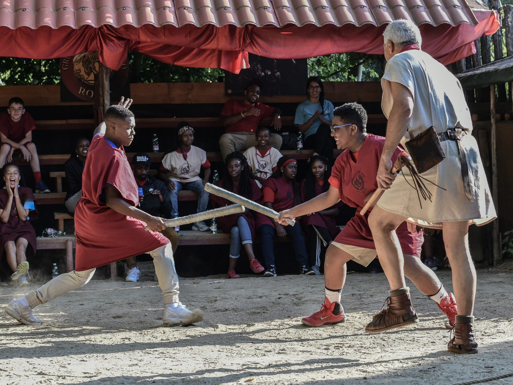 Italian history can come to life for kids at a gladiator school near Rome's Colosseum.
