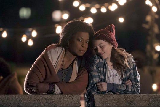 """Lorraine Toussaint as Patricia Davis and Grace Van Dien as Katie Campbell on """"The Village."""""""