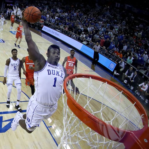 NBA draft lottery Zion Williamson odds 2019 NBA draft top