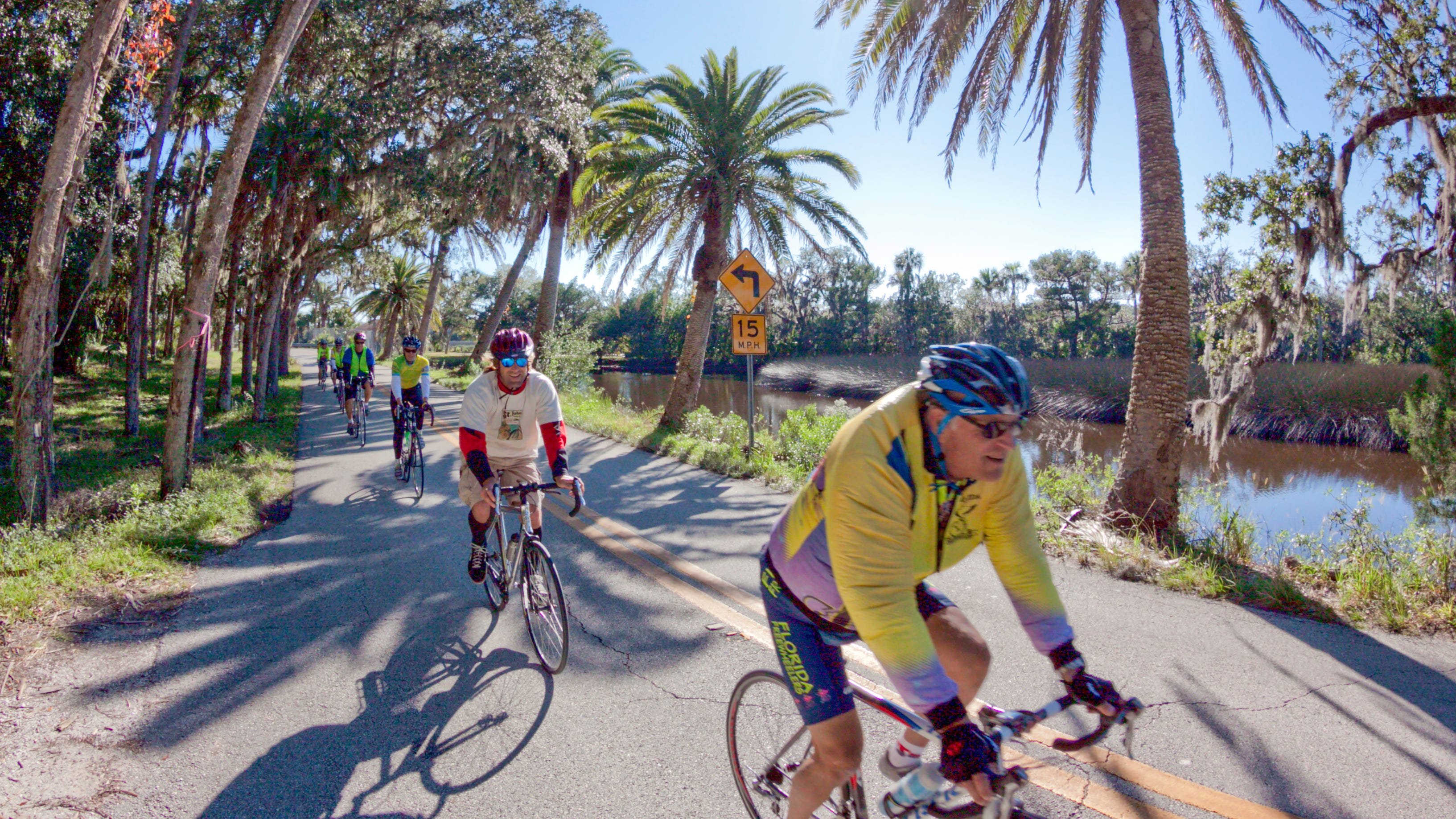 Riding on the Ormond Beach Loop in Volusia County, Florida.