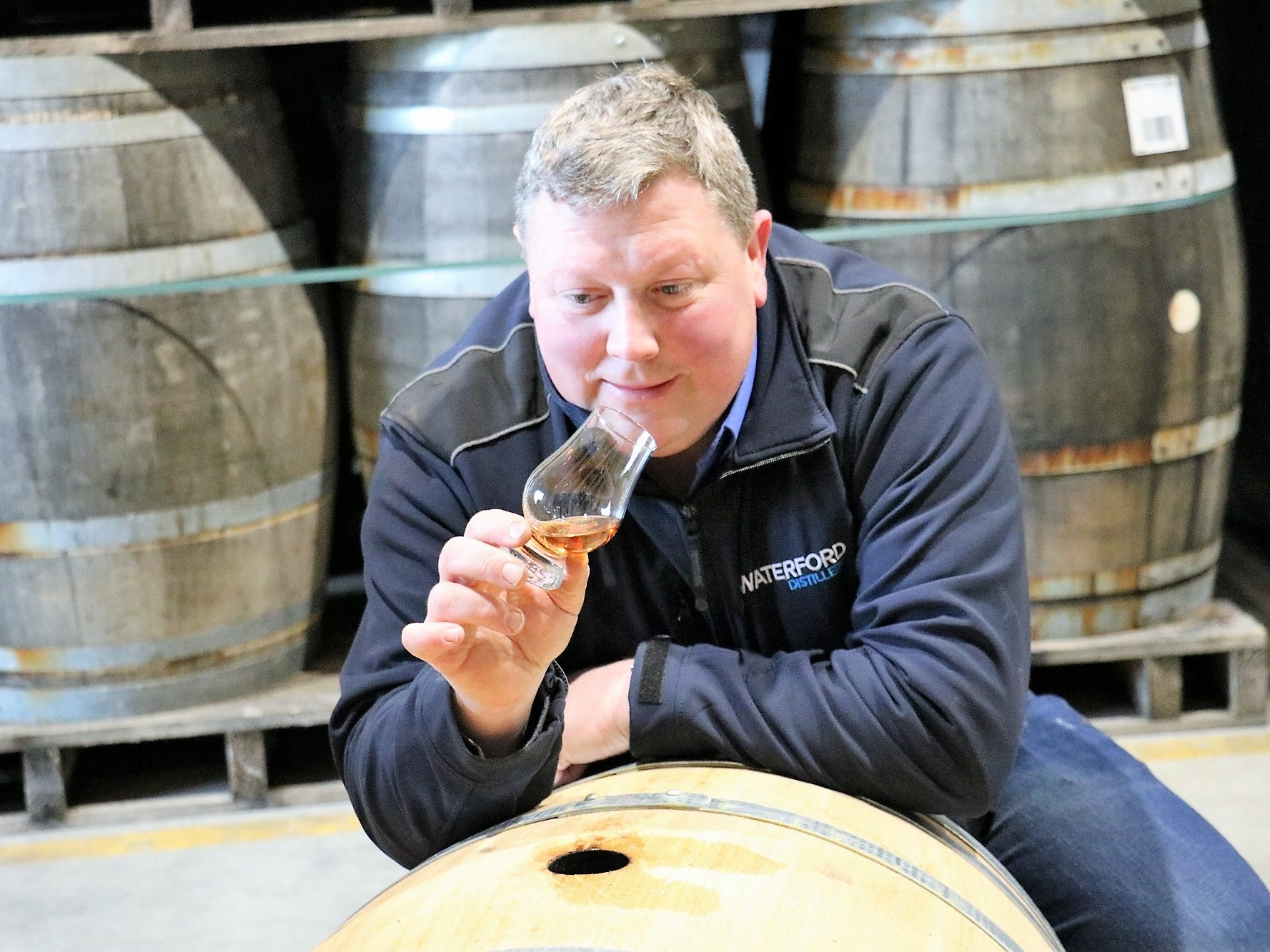 """We want everything to be as natural as possible,"" Gahan says. After a straight-from-the-cask taste, Gahan appears happy with the results."