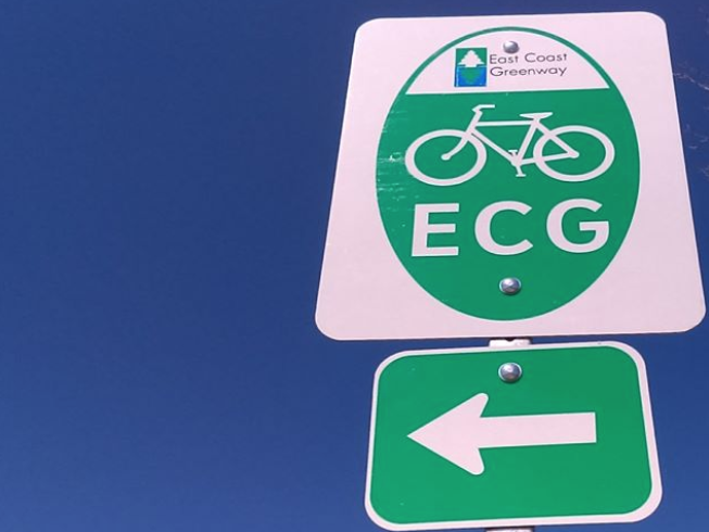 The entire route will have turn-by-turn signage bythe end of 2020.