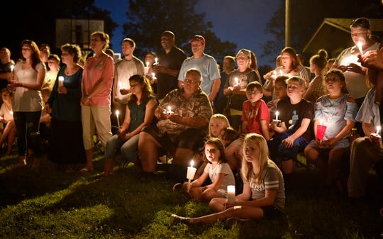 A vigil is held at Burnette Chapel Church of Christ on Sept. 25, 2017 in Antioch, TN.