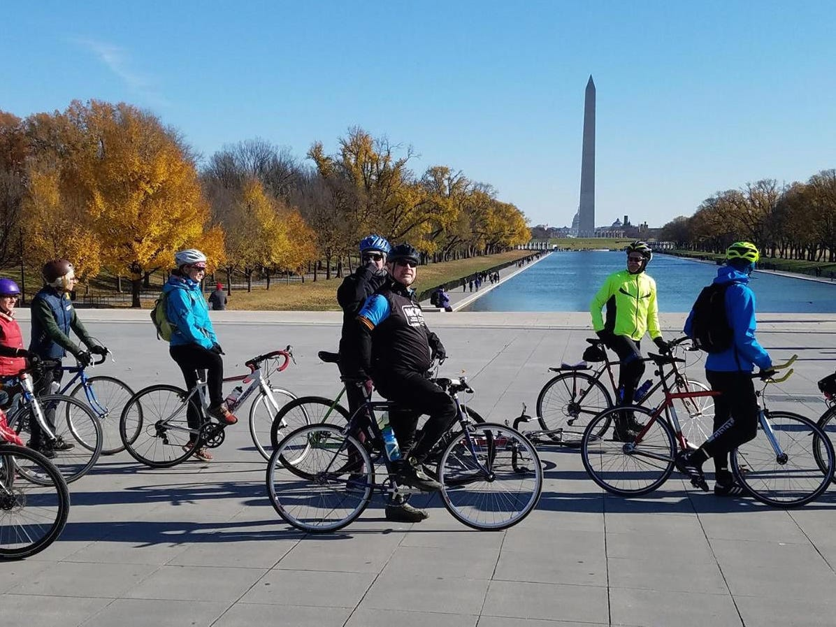 The East Coast Greenway passes through the National Mall in Washington, D.C.