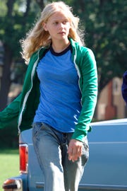 Carly Schroeder in a 2007 scene from the motion picture 'Gracie.'