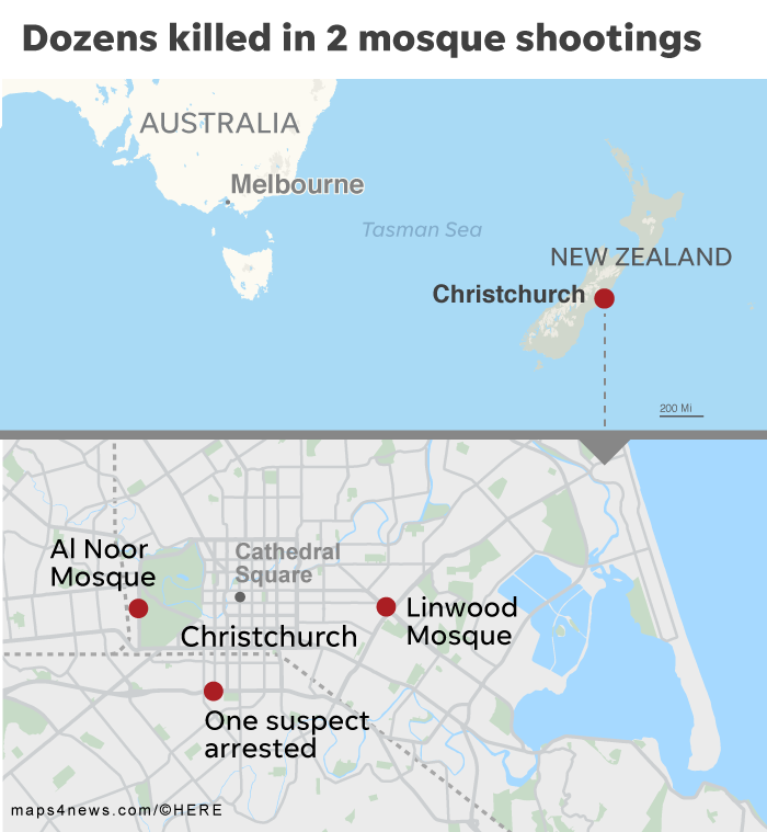 New Zealand Christchurch mosque shootings: 49 dead