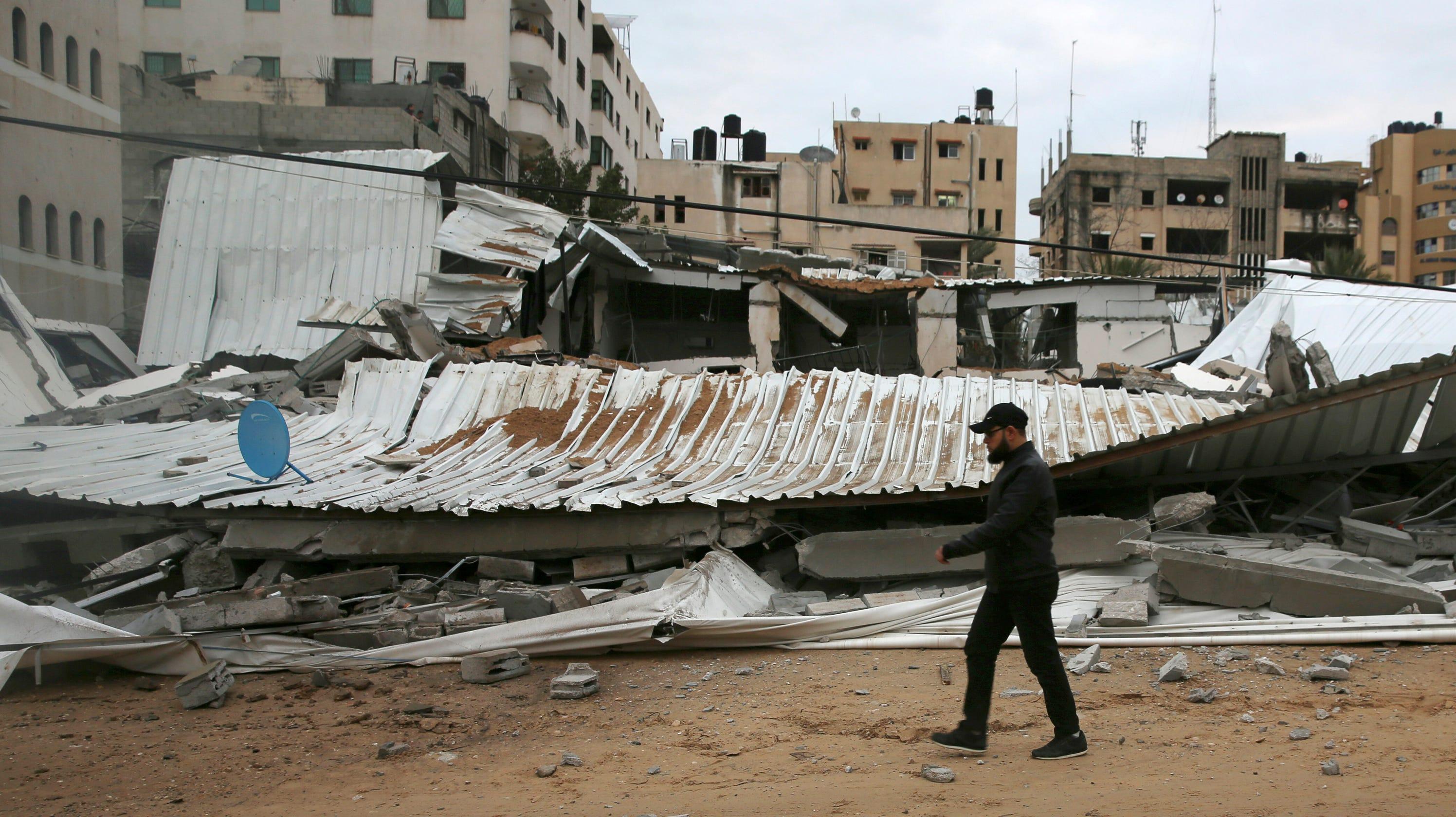 Three rockets fired from Gaza, newborn hurt in rush to shelter