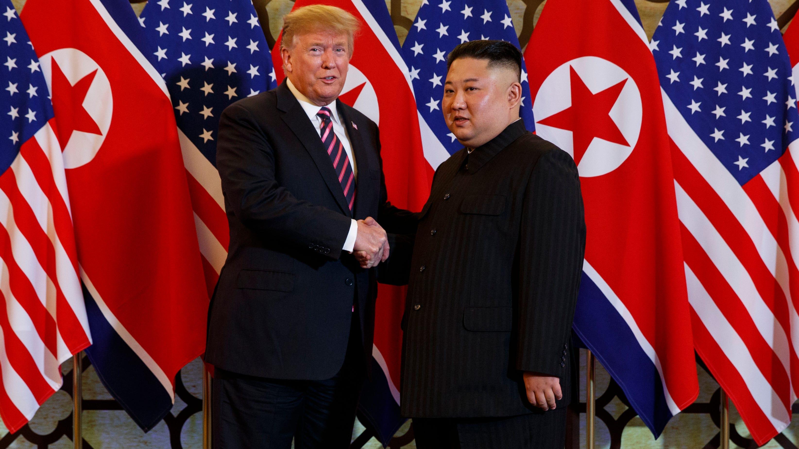 President Donald Trump and North Korean leader Kim Jong Un in Vietnam.
