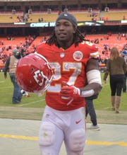 Kareem Hunt led the NFL in rushing yards as a rookie in 2017.
