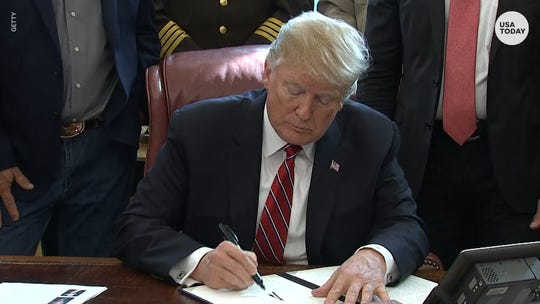 Trump issues first veto.