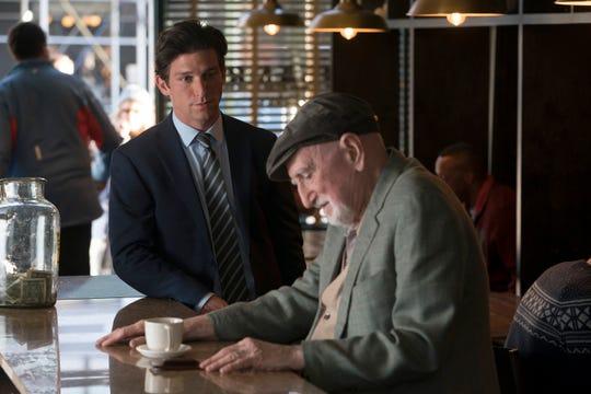 """Daren Kagasoff as Gabe Napolitano and Dominic Chianese as Enzo Napolitano on """"The Village."""""""