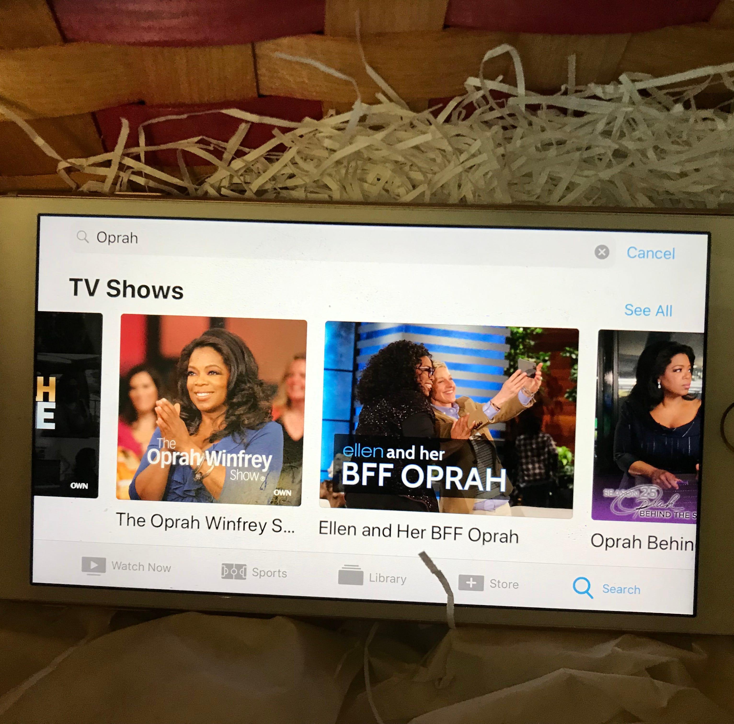 Oprah Winfrey TV shows on iPhone