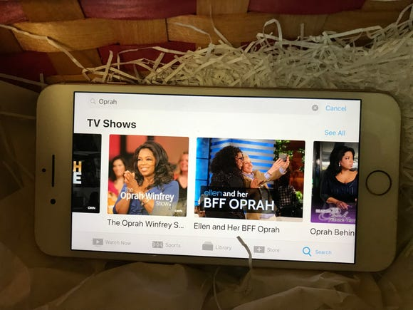 Oprah Winfrey TV shows on iPhone