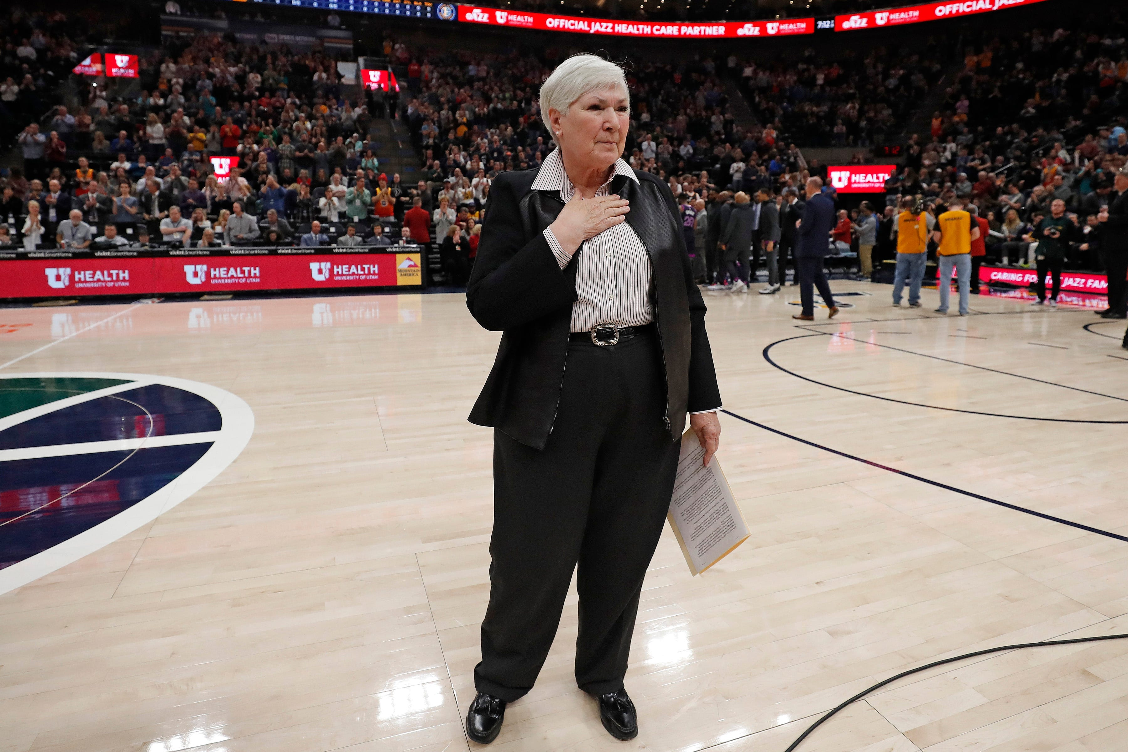 Jazz owner Gail Miller addresses Utah crowd on Russell Westbrook incident: 'This should never happen'