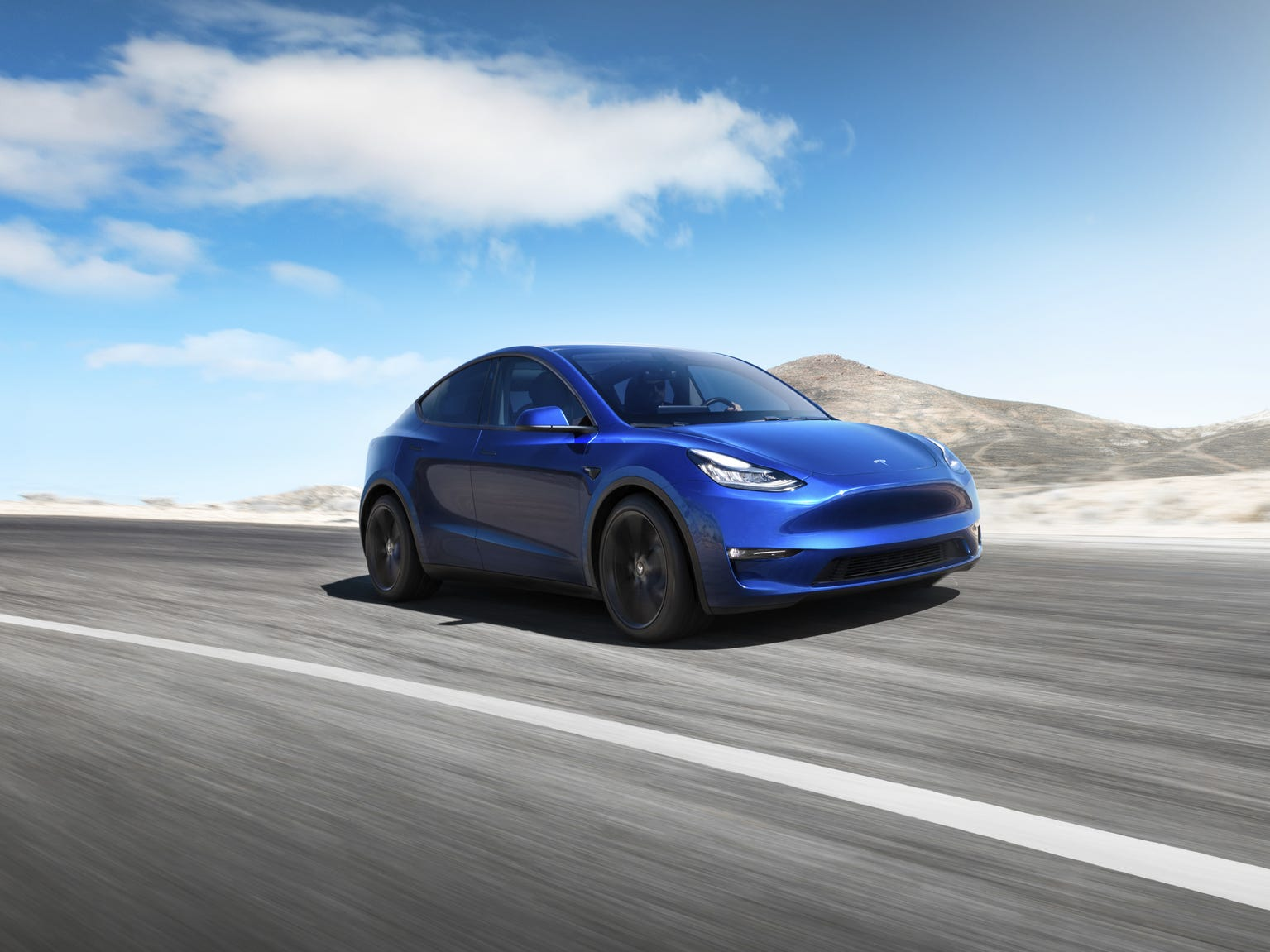 The Tesla Model Y SUV.
