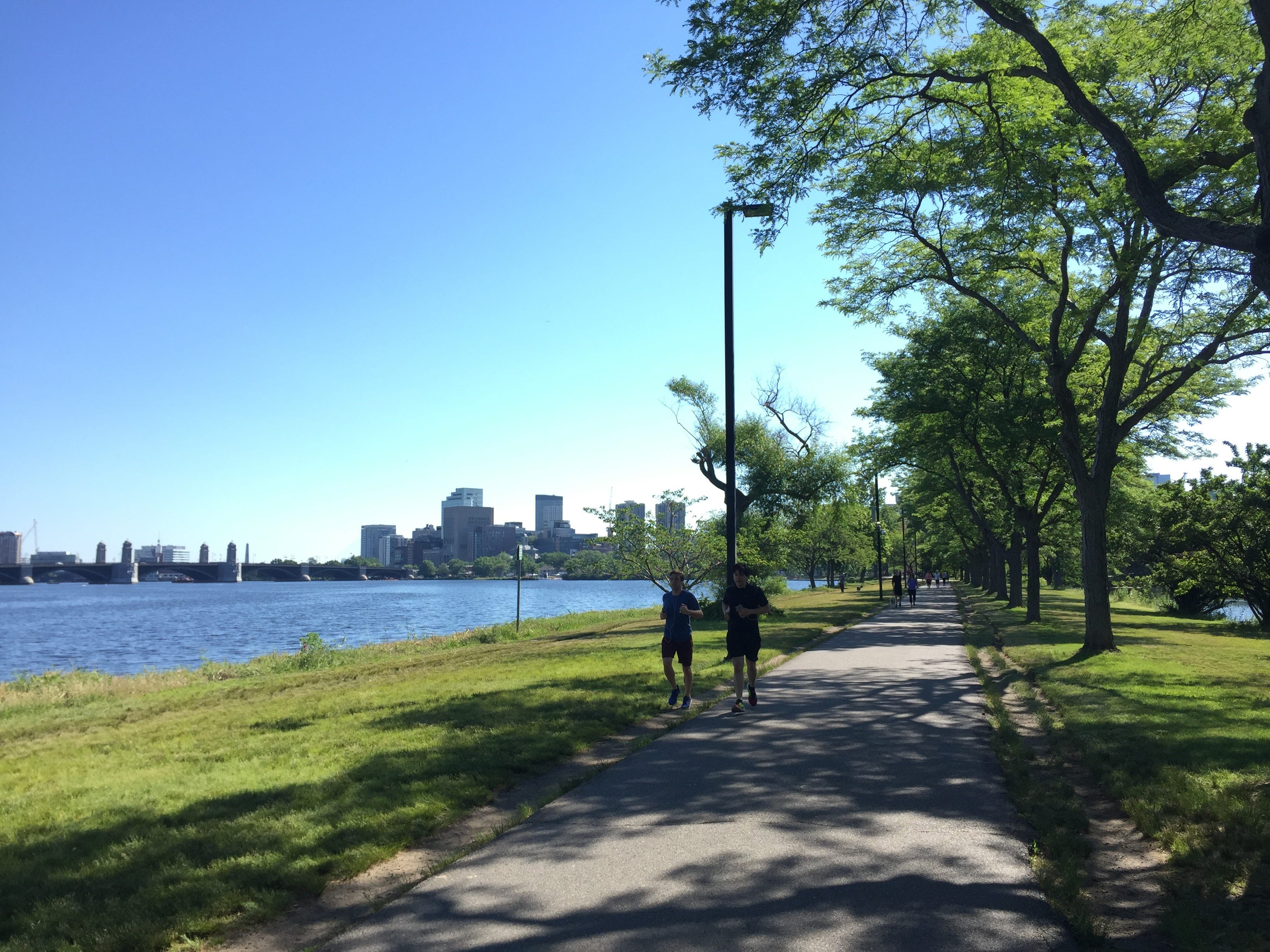 In Massachusetts, the Charles River Bike Path has great views of the Boston skyline and the campuses of Harvard and MIT.