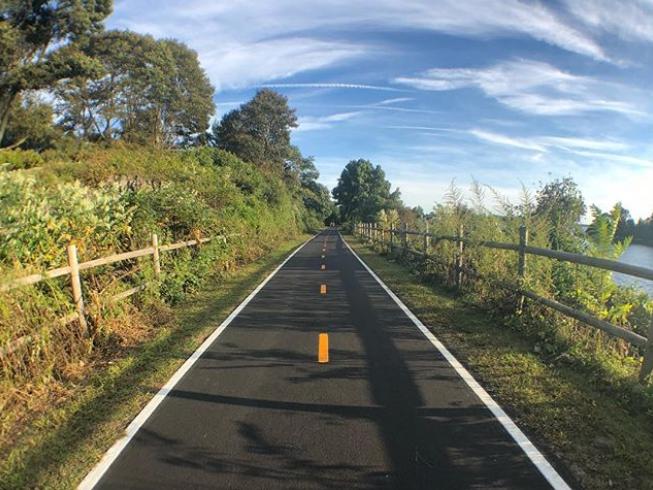 The 10-mile East Bay Bike Path in Rhode Island has stunning views of Narragansett Bay.