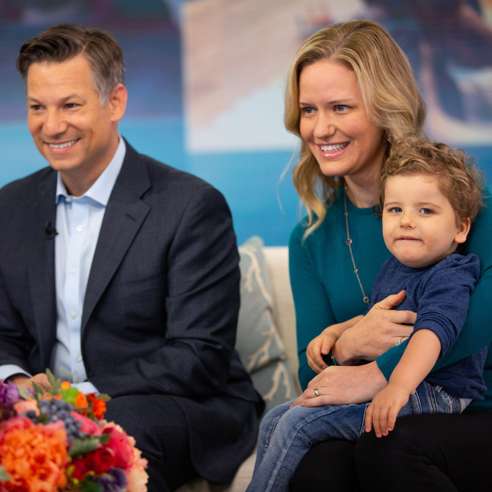 TODAY -- Pictured: Richard Engel and Mary Engel, with son Henry on Wednesday, October 3, 2018.
