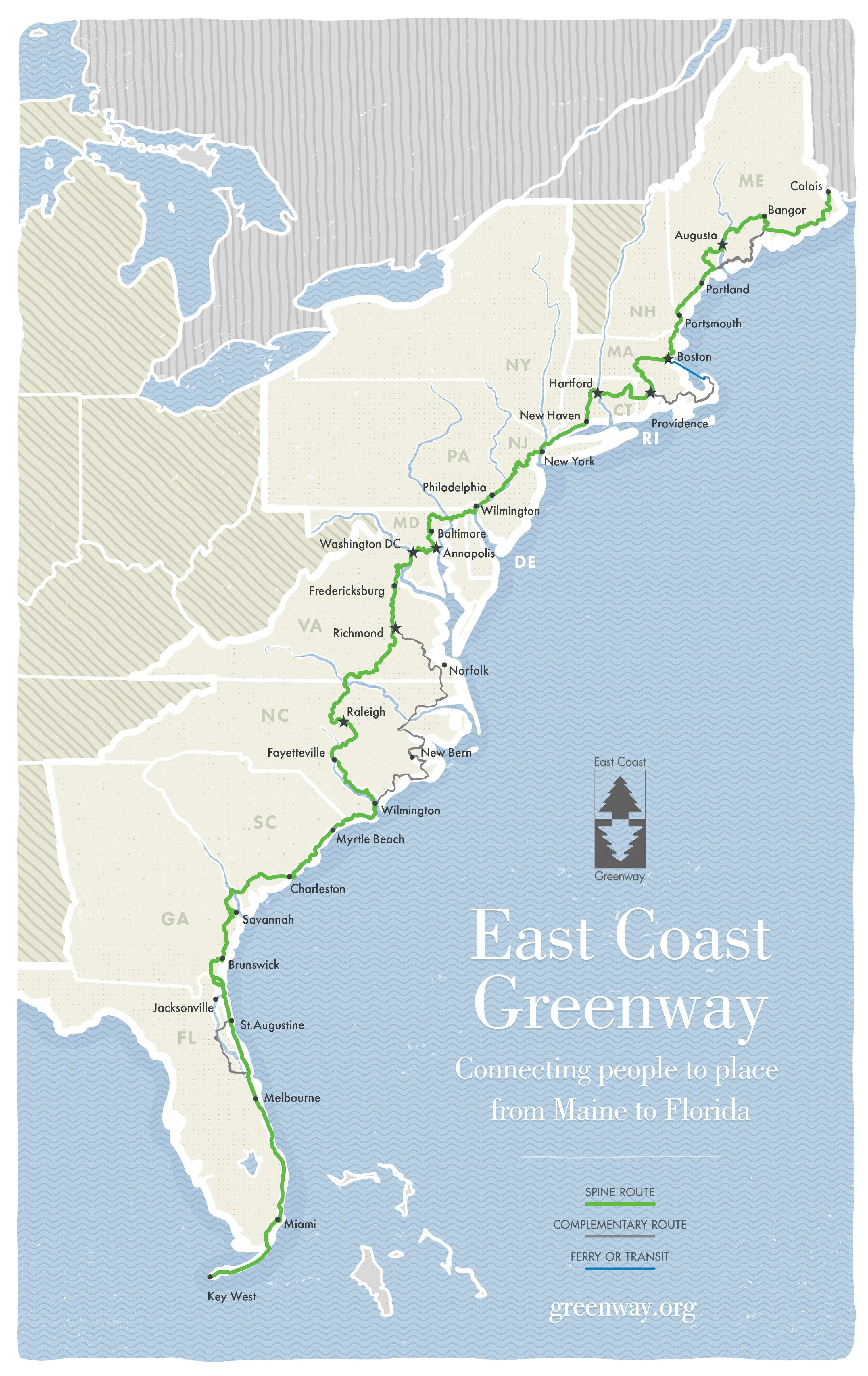 East Coast Greenway: Hike or bike your way from Maine to Florida