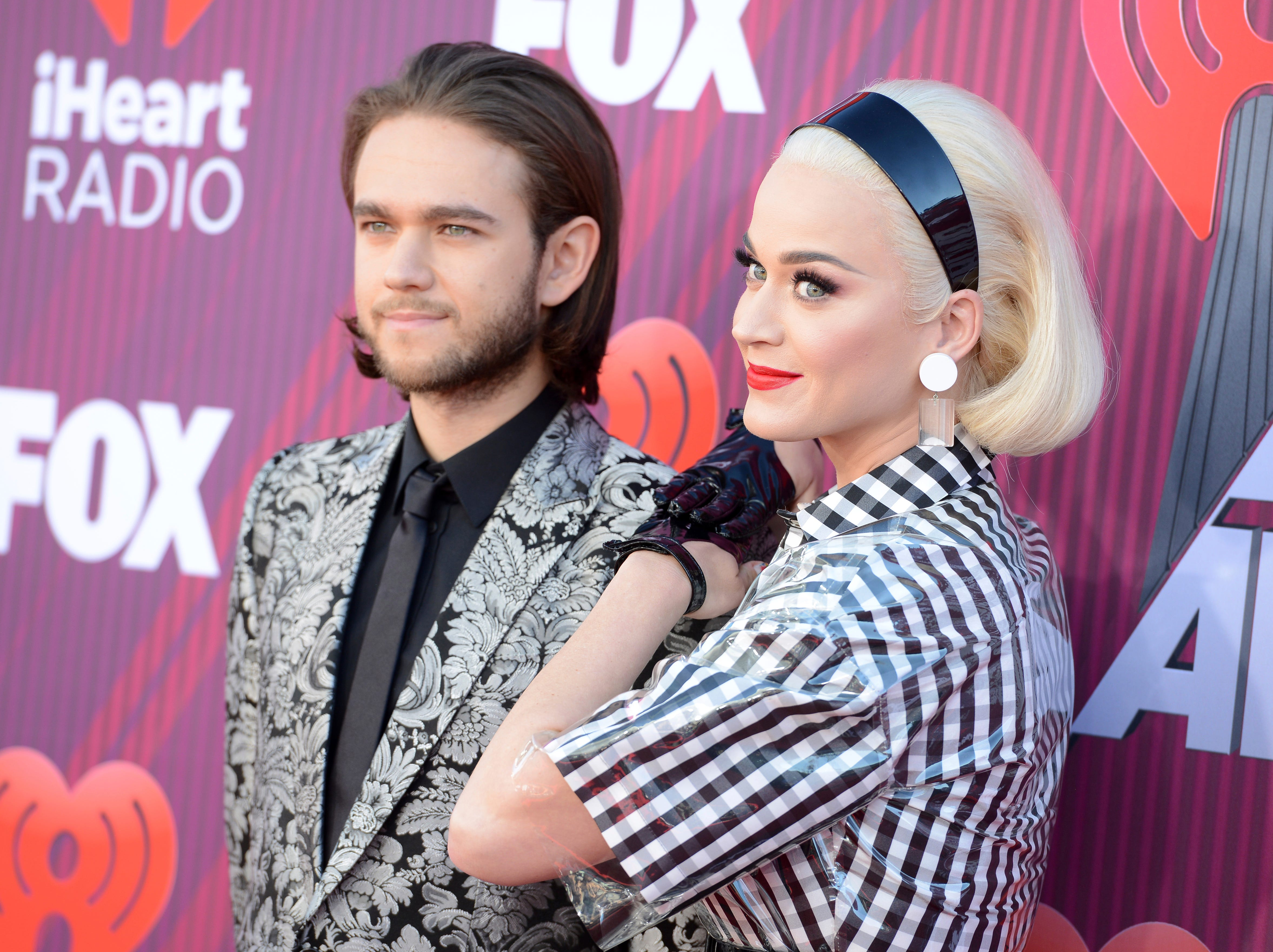 Zedd and Katy Perry arrive at the iHeartRadio Music Awards.