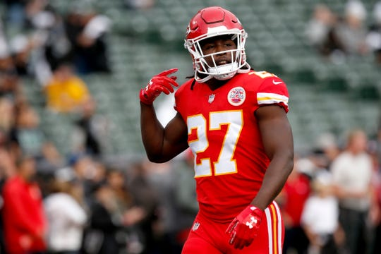 Kareem Hunt, who was signed by the Browns, will sit out the first eight games.