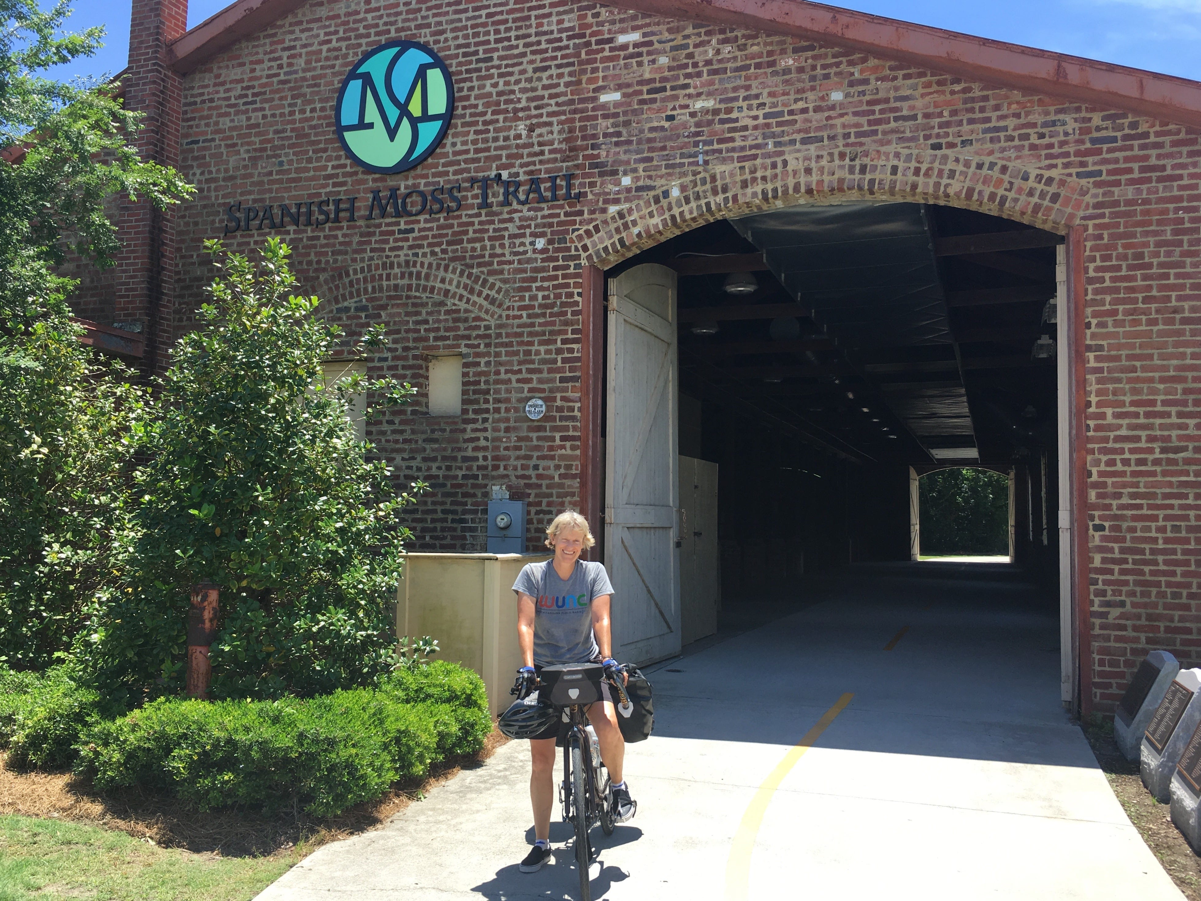 The Spanish Moss Trail in South Carolina is perfect for a family ride. Bike through beautiful wetlands and past historic buildings, including straight through the middle of the old Beaufort Depot.