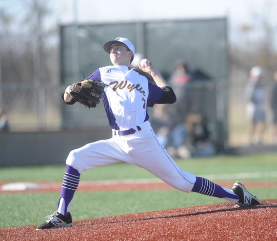Wylie pitcher Dash Albus gets ready to deliver against Cooper. Albus got the win.