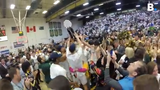 The University of Vermont men's basketball team celebrates after beating UMBC to win the America East Championship on Saturday, March 16, 2019.