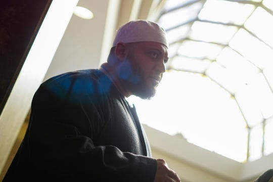 Shaykh Hossam Musa of the Islamic Center of Greater Cincinnati urged attendees of the vigil to confront intolerance, March 16, 2019.