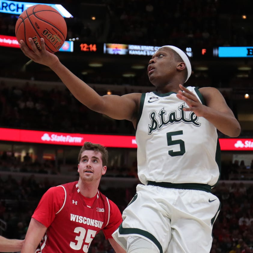 Michigan State batters Wisconsin, 67-55, to reach Big Ten tournament final