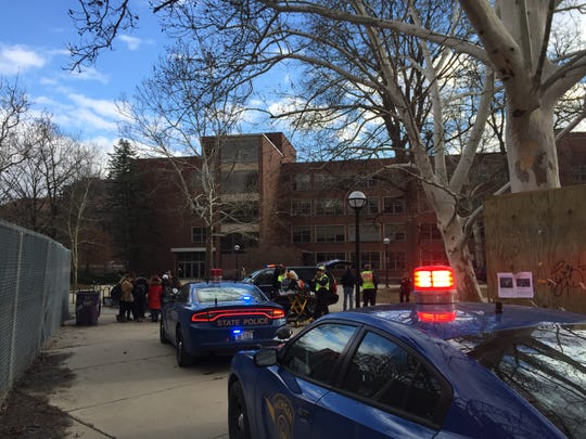 "Police respond to reports of an active shooter on the University of Michigan campus. U-M public safety later tweeted ""There does not appear to be an active threat to the community."" They advised people to stay out of the area."