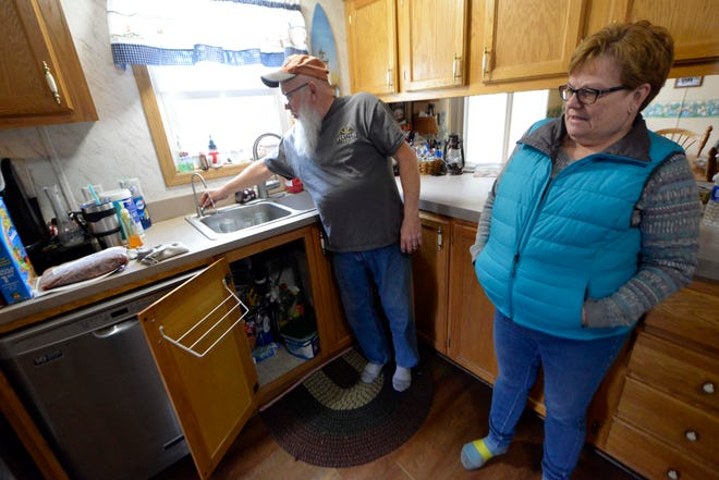 Mike and Sabrina Shafer were recently given a water filtration system by the City of Grand Haven. The Shafers fear that they may be affected by PFAS contaminated well water.