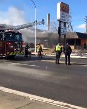 Dearborn Fire Department battles flames at Wing Finger restaurant on Schaefer Road