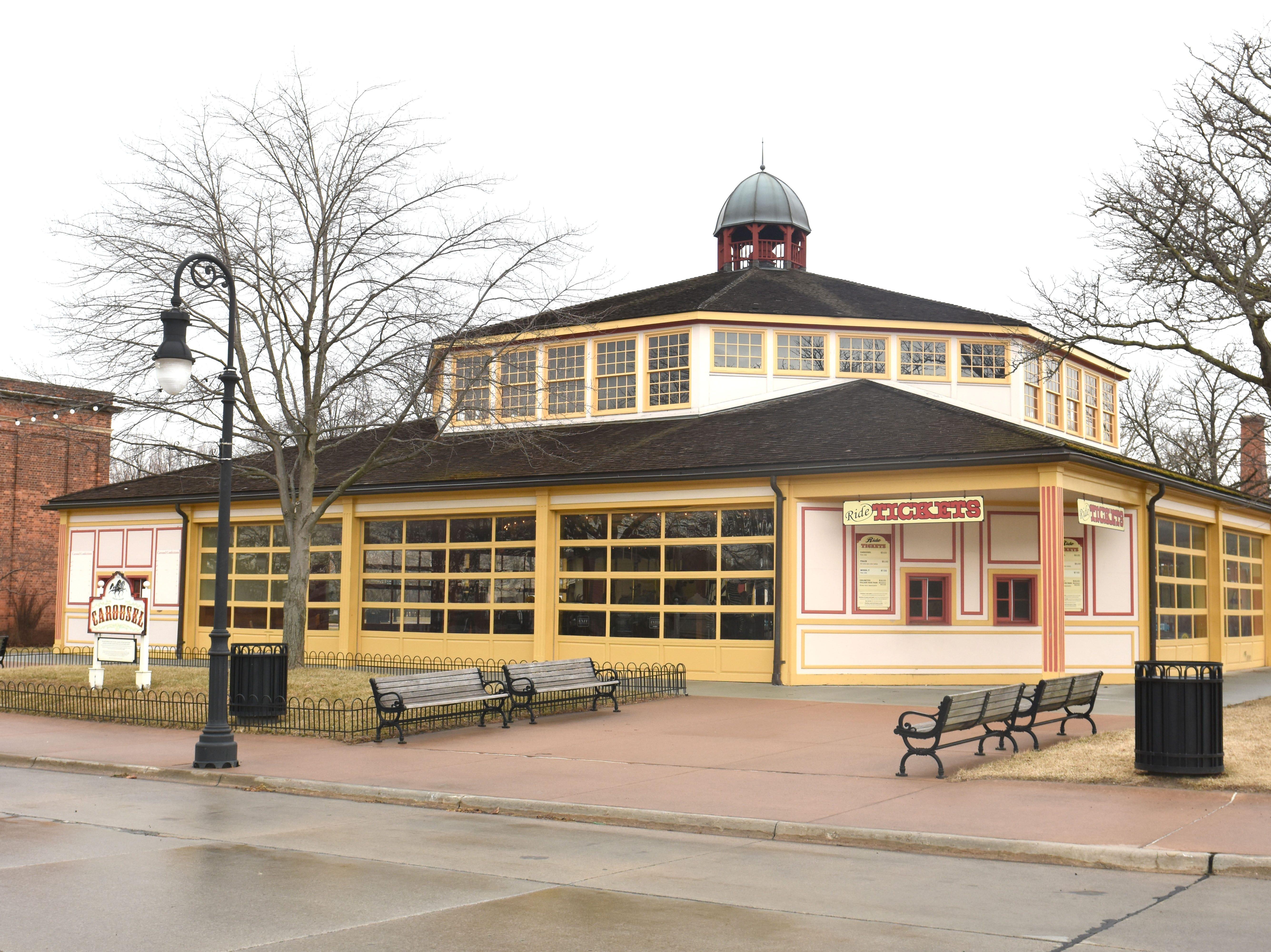 The 1912 Herschell-Spillman Carousel building gets a well needed restoration at Greenfield Village
